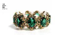 Wholesale High quality Fashion Emerald Precious stones inlaid pearl bracelet New style bracelet