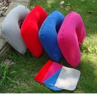 Wholesale High quality NECK PILLOW inflatable pillow mix colours U shape pillow