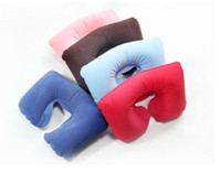 Wholesale Hot Selling Home Necessary Pillow Inflatable Travel Pillow Neck U Rest Compact AirCushion Christmas gift