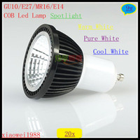 20pcs lot COB Led Lamp GU10 E27 MR16 E14 9W COB Spotlight Le...