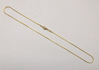 Gift african necklace craft - 10Pcs Gold Plated Necklace Chains Accessories For DIY Craft Jewelry Gift inch GO8