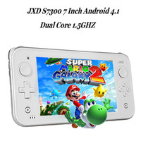 Wholesale JXD S7300 inch Android4 OTG HDMI Capacity Touch Screen Game Console Dual core1 GHZ GB RAM GB ROM