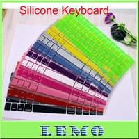 silicone keyboard cover - Colorful Soft Silicone Keyboard Cover Skin Protector for MacBook Pro and laptop keyboard sticker