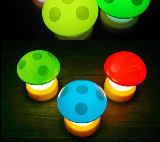 2017 Cute Mini Led Mushroom Night Light Touch Lamp For Wedding Decoration Christmas Gift Toy