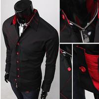 Wholesale men s dress shirts new men s chest hit the Silk slip grid long sleeved shirt Korean Slim shirt