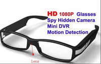 Cheap Full HD 1080P Glasses Spy Hidden Camera Mini DVR Motion Detection Video Recorder Free Shipping