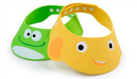 Shower Caps hair washing hat - New arrival Newborn cartoon baby Adjusted shampoo hair wash hat infant Yellow Green zfyzsz
