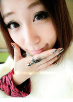 Wholesale New Punk style skull finger Ring