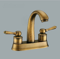 Brass antique brass finish bathroom faucets - Antique Brass Finish Bathroom Basin Sink Mix Tap With Cover Plate Faucet DH