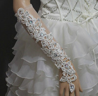 Wholesale New Wedding gloves embroider sexy gem short gloves bridal Gloves Dance gloves