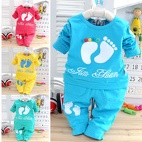 Wholesale 1pcs Retail Autumn New Fashion Babis Tracksuits Clothes Suit Kids Brand Sports Baby Boy Girl Clothing Sets Q036