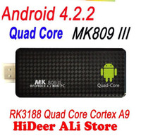 Wholesale Mk809 Iii Quad Core Rk3188 Android Tv Stick gb Ram gb Rom ghz Max Bluetooth Wifi Mk809iii Box