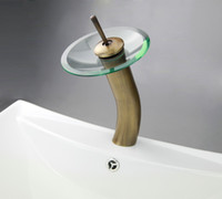 antique glass bath - Newly Modern On Sale Antique Brass Glass Bath Basin Sink Mix Tap Faucet DH