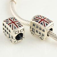 Wholesale silver jewelry OEM custom designs new style of sterling silver loose beads fit bracelets enamel bead charm DY094