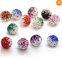 Wholesale 100pcs MM CZ Crystal Shamballa beads For Pave Disco Balls Multi Gradient color