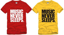Wholesale summer tee kids t shirt Jason Chen Music t shirts Music Never Sleeps printed tshirt cotton color