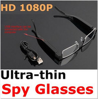Support 32G TF Card No  Ultra-Thin Spy Glasses Recorder Full HD 1080P Hidden Camera Dvr for Convenient Office Fashion Guys Free Shipping