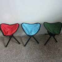 Wholesale new Folding Outdoor Camping Hiking Fishing Picnic Garden BBQ Stool Tripod Chair Seat