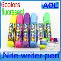Wholesale fluorescent pen Multi color Art Paint Set window marker nite writer pen high lighter pill pen fluorescent writing board
