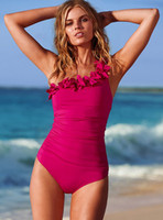 Wholesale New Sexy Women color design One Piece One shoulder Swimwear S LM XL xxl freeshipping