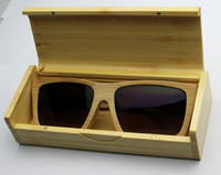 Wholesale 2013 Bamboo sunglasses amp Wood sunglasses with polarized lens wooden eyewear with box