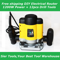 Wholesale New Arrival Electrical Router DIY Wood Working Engraving Machine W Power Drill Tools Low price
