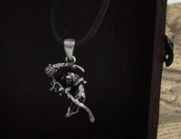 Wholesale alloy gothic punk necklace Gothic Rose scythe death god pendant necklace Fashion jewelry Factory price