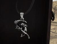 Wholesale alloy gothic punk necklace Gothic Rose scythe death god pendant necklace Fashion jewelry Factory price