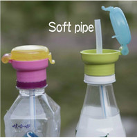 baby bottle caps - New Arrival Baby soft silicone Suction pipe bottle cap safe environmental spill resistant bottle cap
