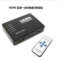 Wholesale Top Quality HDMI Switch Splitter IR Remote Control Controler IN OUT P For HD DVD PS3 Computer and HD Player