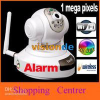 Wholesale EasyN Wireless WiFi IR Cut IP Camera HD MP CMOS Security CCTV Camera Alarm PT Retail box Freeship