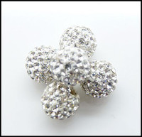 Wholesale 10mm Shamballa Crystal Beads White Disco Ball DIY Loose Beads for Necklace amp Bracelet