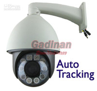 Wholesale TVL X Optical Zoom Auto Tracking D N Waterproof Security PTZ Dome Camera Built i