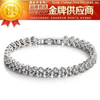 Women's Party Cluster Free Shipping 2013 new FASHION JEWELRY 925 STERLING SILVER Rhinestone BRACELET silver chain 183