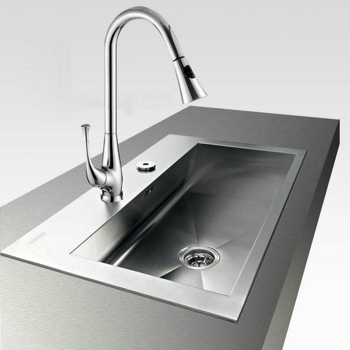 attractive New Kitchen Sink Cost #8: 2017 New Chrome Finished Faucet Basin u0026 Kitchen Pull Out Spray Mixer Tap Dh  173 From Bibilolo, $68.29 | Dhgate.Com