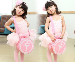 Wholesale girl Backpacks princess ballet Accessories perform messenger bag kids Ballet bag children knapsack