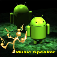 Wholesale 3 color Universial Portable Mini Music Speaker Android Robot Toy TF Card USB MP3 FM Radio With LED light for Table PC iPhone iPad Samsung