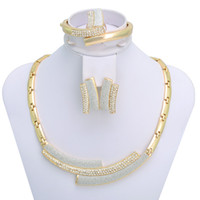 costume jewelry necklace - African costume Gold Plated jewelry sets K gold plated fashion necklace A006