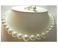 Wholesale NICE MM SOUTH SEA WHITE PEARL NECKLACE EARRING14k