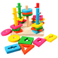 Wholesale wooden toy learning tool intelligence toy birthday present educational toy building block christmas gift