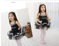 Wholesale kids clothing Clothes and Ballet Skirts Costume performance wear girl dresses year baby dress size black