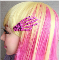 Wholesale new New Item Hand bones Shape Hair Clips Glow in the Dark Barrettes Clamps Fashion Jewelry