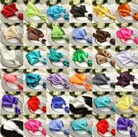 Wholesale 30 piece Satin Dinner Napkin Handkerchiefs Wedding Party Decor Craft mouth cloth colorful napkin