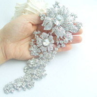 rhinestone brooch - 7 quot Gorgeous Bridal Flower Brooch Pin w Clear Rhinestone Crystals EE04704C1