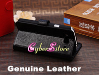 Leather For Samsung  30pcs Top Grade Real Genuine litchi Wallet Flip Leather Case Cover With Credit Card Slots Slot Pouch For Samsung Galaxy Mega 5.8 i9150