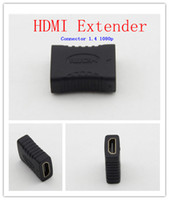 Wholesale HDMI to HDMI female adapter black Coupler F F Extender Adapter Connector p SG in stock for sale