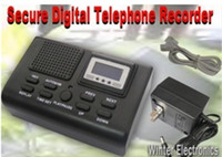 Wholesale KSD Automatically Telephone Voice Recorder Bug and Logger Black H423