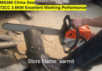 Wholesale MS380 MS381 Excellent Working Performance Gasoline Chain Saw CC KW