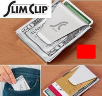 Wholesale 50pcs Top quality BRAND NEW MONEY DOUBLE SIDED WALLET CARD HOLDER Money Clips
