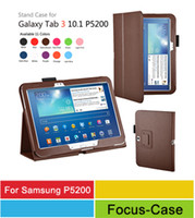 Wholesale For Samsung Galaxy Tab P5200 P5210 Folio PU Leather Stand Cover Case Colors Factory Sale l Freeship